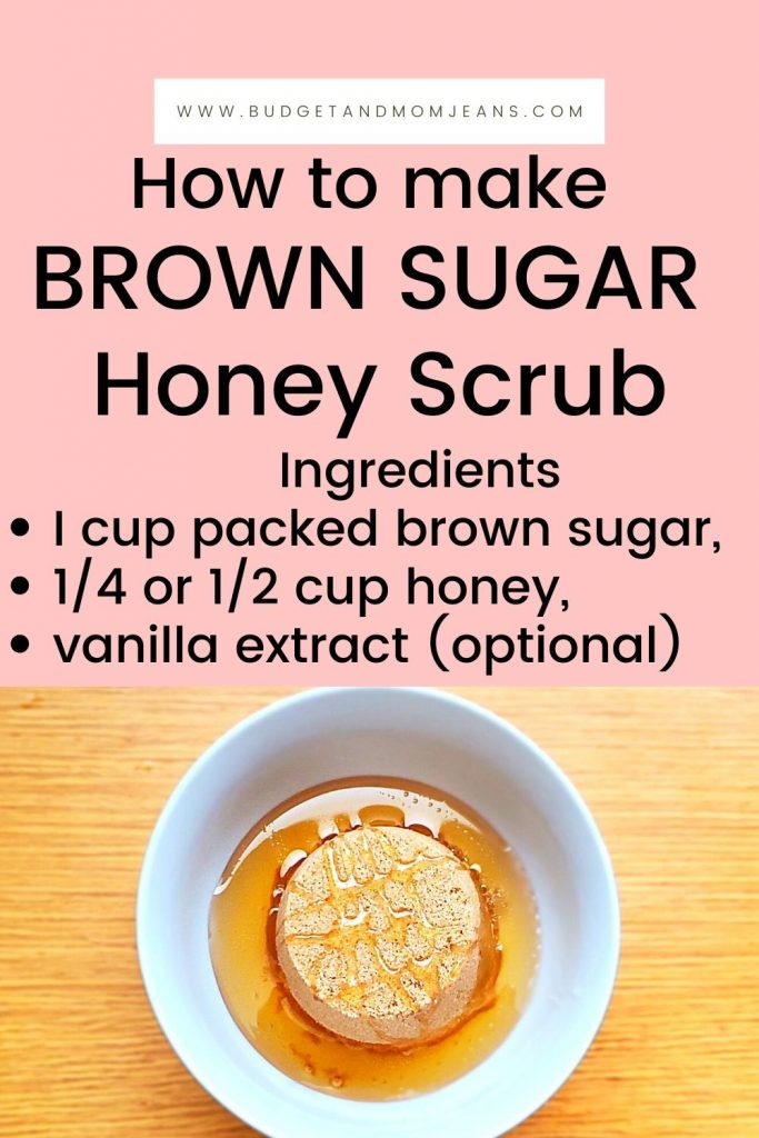Brown Sugar Honey Scrub For Lips, Face, And Body
