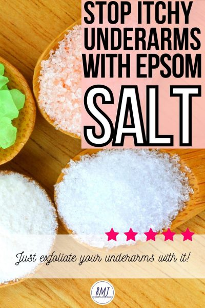 How To Use Epsom Salt For Itchy Underarms