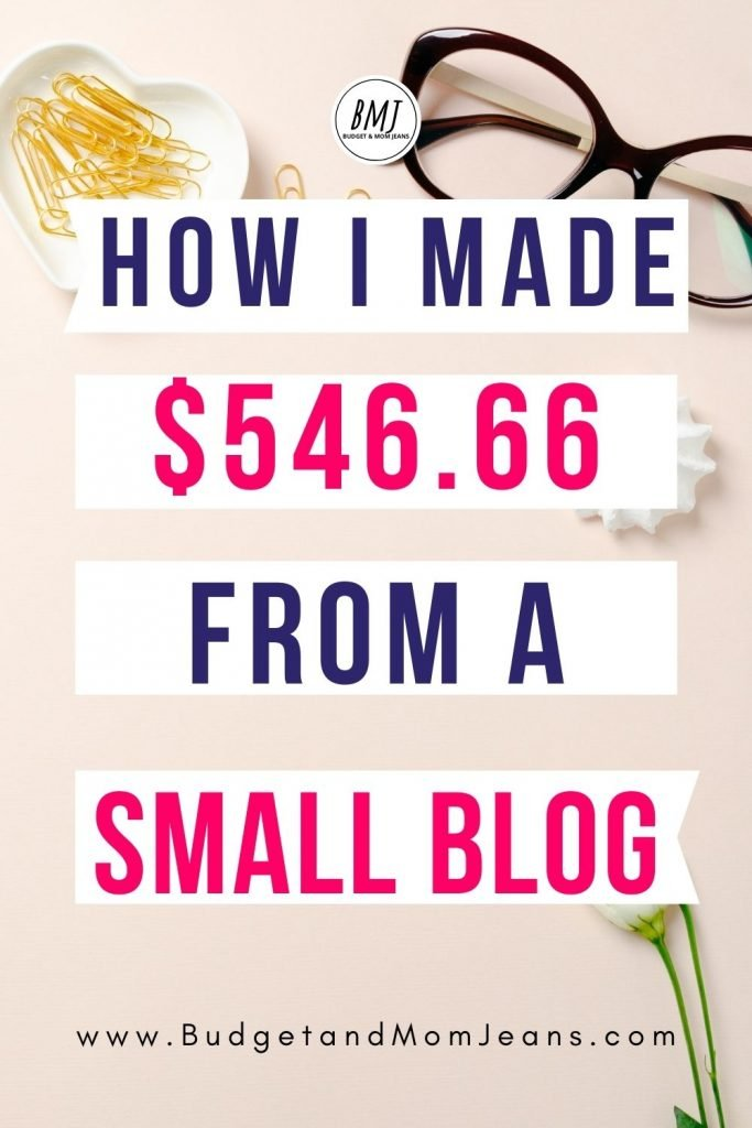 March/April Blog Income Report - I Made $546.66