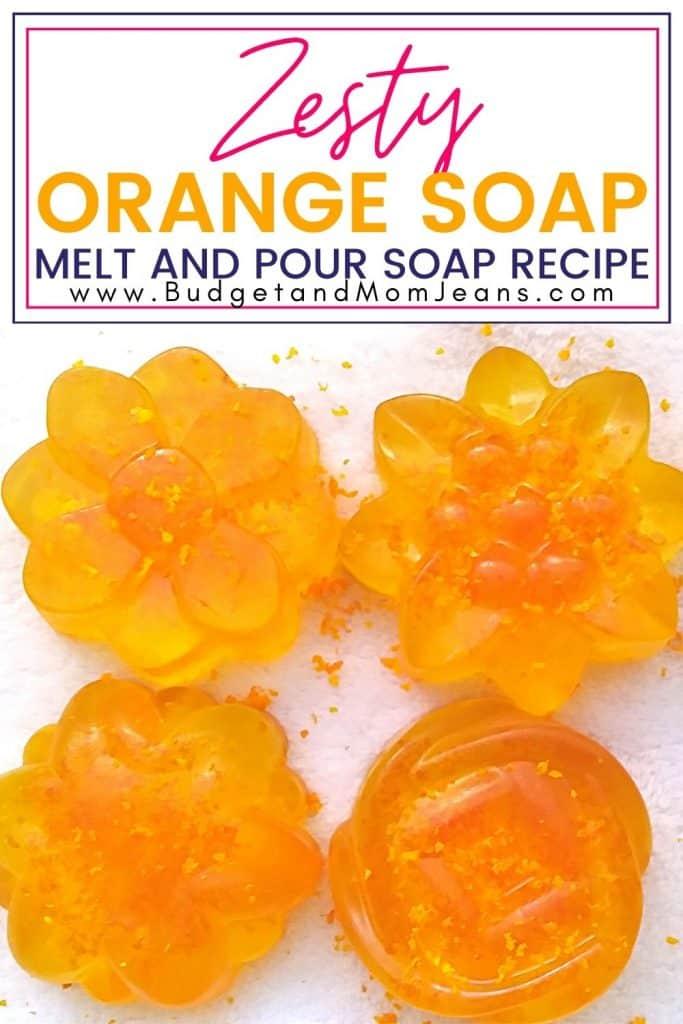 Zesty Orange Soap Melt And Pour Soap Recipe